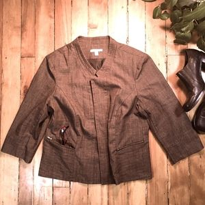 Roz & Ali Jackets & Coats - Roz & Ali XL Brown Jacket